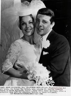Frankie Avalon / Kay :-)  little did they know that their marriage would span 50 years :-)  lovely and would have 8 children