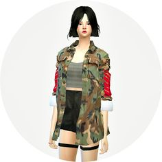 ACC military jacket female at Marigold via Sims 4 Updates