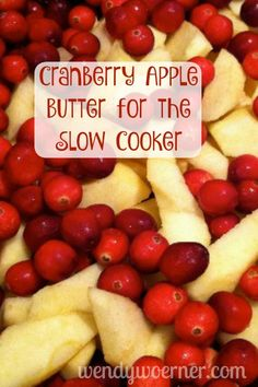 Cranberry Apple Butter: Slow Cooker Style www.wendywoerner.com Check out this recipe, great for gift-giving parties, and simple enjoyment all year long!