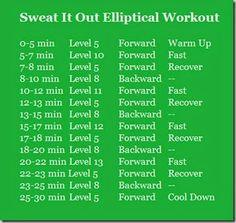 Sweat It Out Elliptical Workout