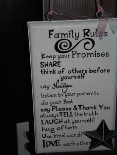 Family Rules  11x12 size by Chelbies on Etsy, $15.00