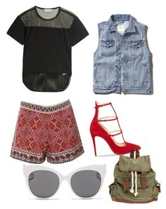 """Outfit with my eyes closed!"" by div11 ❤ liked on Polyvore featuring adidas, Abercrombie & Fitch, Glamorous, Christian Louboutin, Wet Seal, Blanc & Eclare and Outfitwithoutlooking"