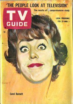 Carol Burnett, TV Guide cover.