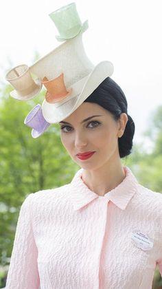 Olga Stephanenko at Royal Ascot 2014 wearing a Stephen Jones hat.