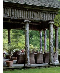 Rustic Garden Folly by Bunny Williams