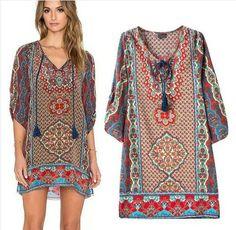 d7c93a967c5 Krátké dámské letní šaty k moři indiánský styl – letní šaty+ POŠTOVNÉ ZDARMA  Na tento produkt