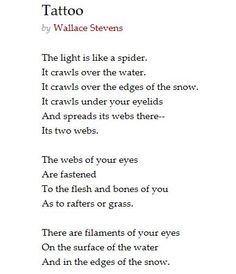Poem by Wallace Stevens - haunting