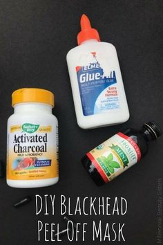 This is an easy DIY Blackhead Peel Off Mask. Great for cleansing pores and removing stubborn blackheads. Made with just 3 ingredients!: