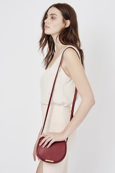 Mini Saddle Bag   Cuyana - just got this bag - it is the prettiest deep scarlet red