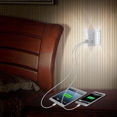 Albrillo Dimmable Night Light Dusk to Dawn Sensor Dual USB Wall Plate Charger - - Amazon.com