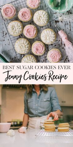Best Sugar Cookies Ever. The Jenny Cookies Recipe Best Sugar Cookies Ever. The Jenny Cookies Recipe – Jenny Cookies Easy Buttercream Frosting, Sugar Cookie Frosting, Easy Sugar Cookies, Sugar Cookies Recipe, Baby Cookies, Heart Cookies, Shortbread Cookies, Homemade Sugar Cookie Recipe, Sugar Cookies To Decorate