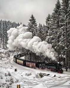 -ốc- Snow Train, The Black Forest, Germany.-ốc-Snow Train, The Black Forest, Germany. Winter Szenen, Winter Time, Winter Christmas, Christmas Train, Merry Christmas, Rustic Christmas, Sweden Christmas, Christmas Express, Holiday Train