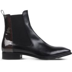 Agl Attilio Giusti Leombruni Ankle Boots ($274) ❤ liked on Polyvore featuring shoes, boots, ankle booties, black, ankle boots, black booties, black leather booties, short black boots and leather ankle boots