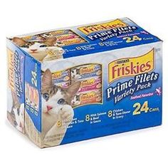 Pet Supplies: Friskies Wet Cat Food, Prime Filets, Seafood Favorites Variety Pack, Can, Pack of 24 Purina Friskies, Canned Cat Food, Cat Training Pads, Cat Shedding, Cat Fleas, Cat Memorial, Dose, Pet Care, Pet Supplies