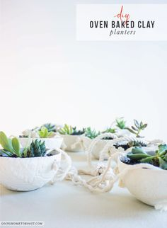 diy oven baked clay hanging planters