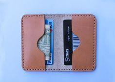 Slim Leather Wallet, Card wallet, Minimalist wallet ,Leather Card Case, Credit Card Holder, Mens Slim Wallet, Gift idea for him.