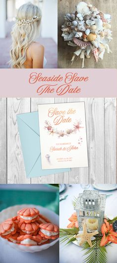 wedding ideas, wedding invitation, beach wedding, save the date, rose gold, seaside