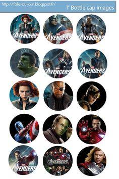 Free Bottle Cap Images: The Avengers Free bottle cap images