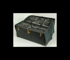 Vintage mortician's embalming and cosmetic kit. Wow.