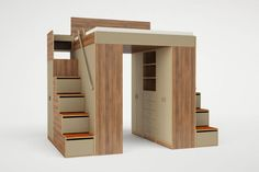 Better than a Murphy Bed - loft beds for adults. Urbano king loft bed. (Roberto Gil)