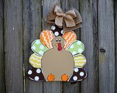 Turkey Fall/Thanksgiving Door Hanger **CAN be Personalized for Free!**   BellesontheBayou.facebook.com
