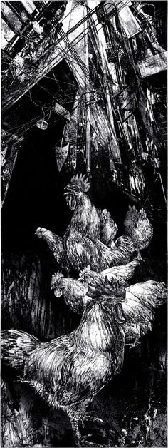 "Michael Goro; Etching, 2010, Printmaking ""Defiant Perspective"""