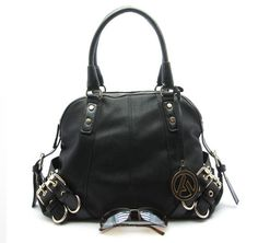 Black tote bag from Mimi Boutique... This style comes in brown and pink too!