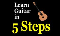 Learn 5 steps to help you teach yourself to play guitar, no lessons required. It isn't easy, but with a little hard work you can do it!