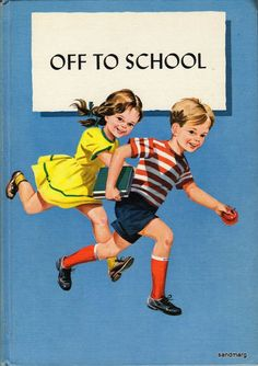 Off to School 1960 Canadian Primary Reading Series Book Janet John Anne Lucky and Buttons