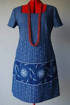"""""""Traditional"""" with a difference Sotho Traditional Dresses, South African Traditional Dresses, African Print Dresses, African Prints, African Dress, Seshoeshoe Dresses, Summer Dresses, Shweshwe Dresses, Xhosa"""