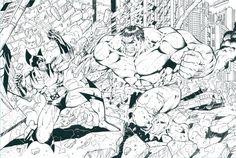 Hulk/ Wolverine By Al Rio