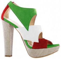 Loriblu Olympics 2012 Italian Flag Heels