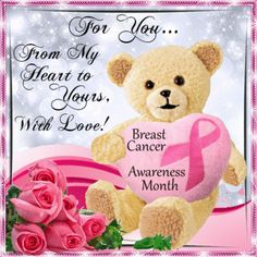 This ecard can be sent to anyone to show you care with love. Free online From My Heart To Yours ecards on Breast Cancer Awareness Month Get Well Soon Funny, Get Well Soon Messages, Get Well Soon Quotes, Good Night Funny, Good Night Gif, Good Night Image, Breast Cancer Support, Breast Cancer Awareness, Make Me Happy Quotes