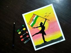 YouTube Oil Pastel Colours, Soft Pastel Art, Oil Pastels, Independence Day Drawing, Independence Day Special, Oil Pastel Drawings Easy, Oil Pastel Paintings, Flag Drawing, Step By Step Drawing