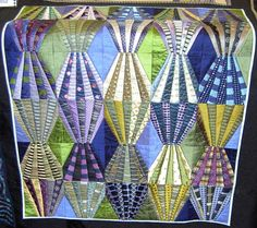 necktie quilts | Tie quilt..Best use of ties in a quilt that I've seen.  Love the subtle coloration.