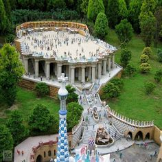 Parque Güel (Barcelona) ~ ღ Skuwandi Hotel W, Vita Sackville West, Madrid, Parc Guell, Lenotre, Unusual Buildings, Antoni Gaudi, Barcelona Travel, Spain And Portugal