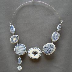 Flower o porcelain dangle necklace | Flickr - Photo Sharing!