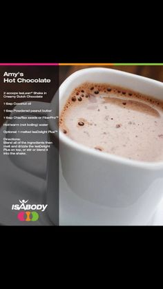 fixyourlifest… Source by Isagenix 9 Day Cleanse, Isagenix Snacks, Healthy Hot Chocolate, Nutritional Cleansing, Shake Recipes, Clean Recipes, Food Hacks, Healthy Snacks, Healthy Recipes