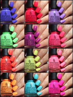 Colores de Carol: China Glaze Lite Brites for Summer 2016