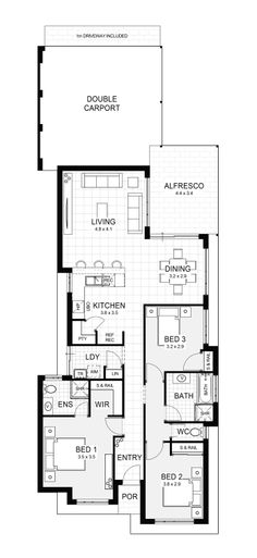 10 and 11 Metre Wide Home Designs | Home Buyers Centre