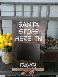 Christmas Countdown Sign.  Santa countdown Sign. by GGSIGNS