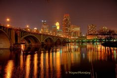 Minneapolis Skyline  #Minneapolis #Skyline  #Mississippi #River