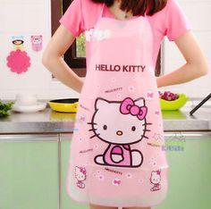Super Cute Hello Kitty Women Waterproof Kitchen Dining Bar Apron Pinafore | eBay