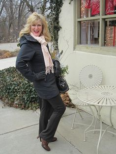 Scottevest Penny Coat.  Too See more Outfits modeled by Women over 45 see: http://stillblondeafteralltheseyears.com/category/outfits-modeled-women-over-45/
