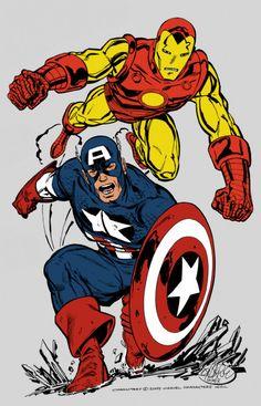 Iron Man and Captain America by spytroop.deviantart.com on @DeviantArt
