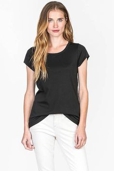 Lilla P Short Sleeve Jewel Neck