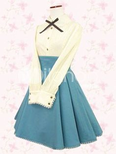 I love this! It's a lolita outfit that is plain enough I could wear it without strange looks :)
