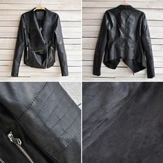 Dámske oblečenie 2015 New Hot Vintage Ženy Slim PU kožená bunda s dlhým rukávom Biker Motocyklové Coat Black Jeseň Zima J4139-in Basic bundy z dámske oblečenie a príslušenstvo na Aliexpress.com | Alibaba Group