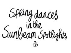 Spring dances in the sunbeam spotlight ❥