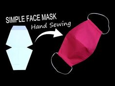 Simple DIY face mask DIY face mask No sewing machine with filter bag, Are you currently trying to learn to sew and trying to find lessons on sewing for novices? Fabric Crafts, Sewing Crafts, Sewing Projects, Craft Projects, Diy Crafts, Easy Face Masks, Diy Face Mask, Simple Face, Simple Diy